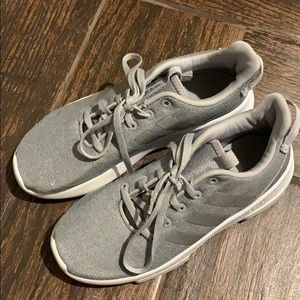Girls size 2 Adidas cloud foam grey, good con.,$15